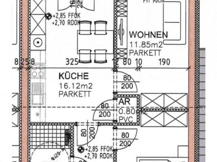 Objektbild: Schöne 2-Zimmer-Eigentumswohnung mit großem Balkon am Feldbacher Stadtrand