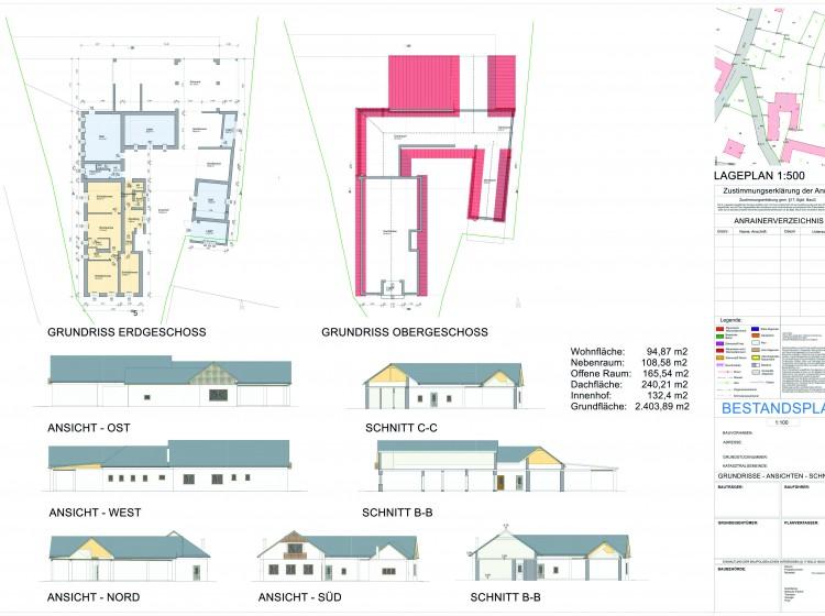 Objektbild: Einfamilienhaus/ehemaliger Dreikanthof mit großzügigen Nebengebäuden in ruhiger Ortslage!